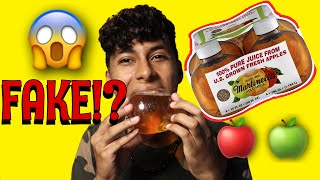 Viral TikTok Apple Juice Bottle! Biting Into It Sounds Like An APPLE?!