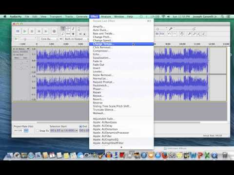 Video Tutorial: Using Audacity to Slow Down Audio Files (Without Affecting the PItch)