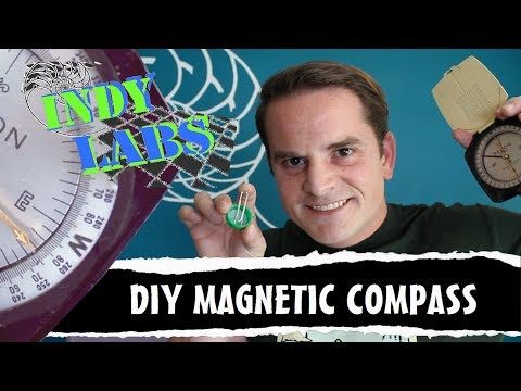 Indy Labs #19 - DIY Magnetic Compass (At Home DIY Science)