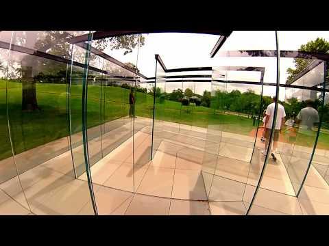 Robert Morris's Glass Labyrinth @ The Nelson-Atkins Museum of Art