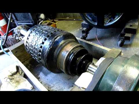 Westinghouse 110V DC Generator Armature Clean Up and Install