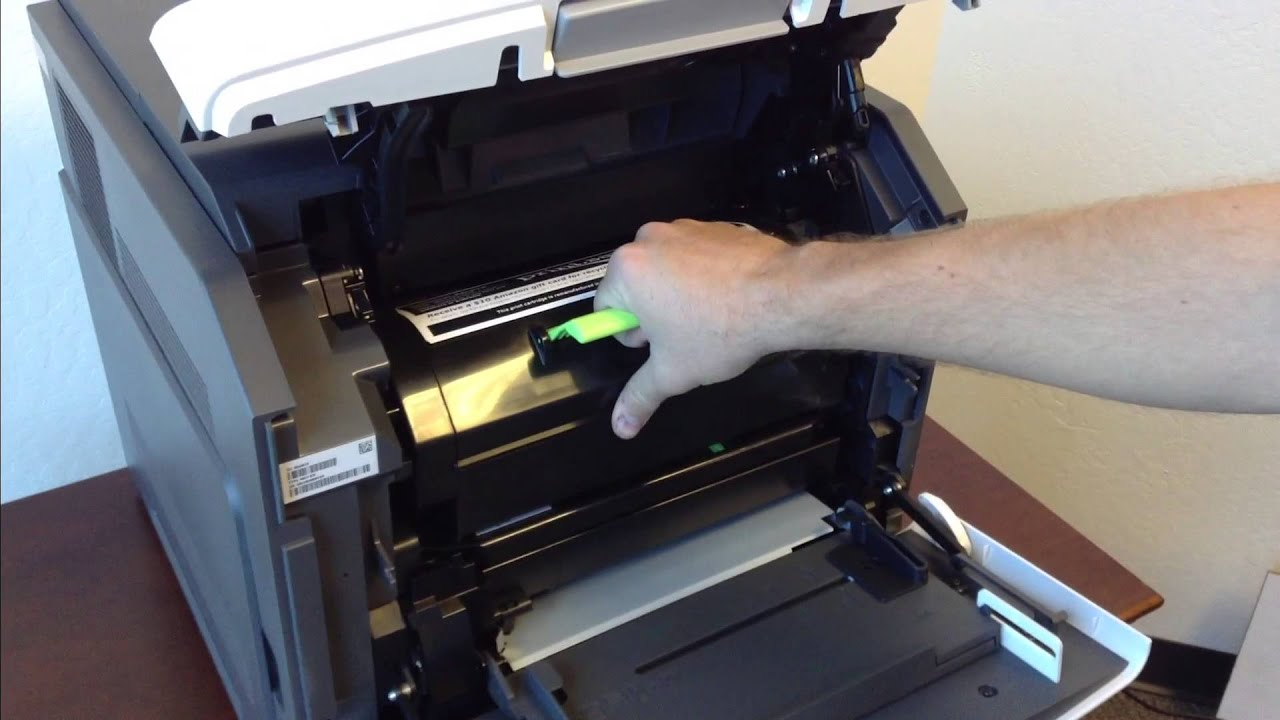 How To Replace The Toner Cartridge In A Lexmark Ms810