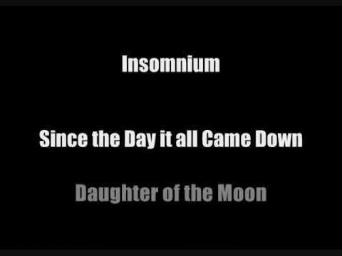 Insomnium- Daughter of the Moon (Lyrics in Video)