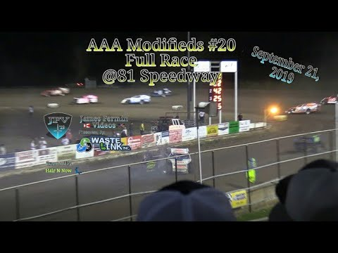 AAA Modifieds #20, Full Race, 81 Speedway, 09/21/19