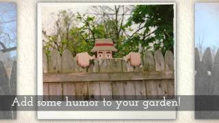 Toms Crafts Handmade Wooden Home And Garden Decor Fence Sitters