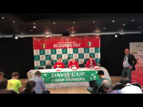 Davis Cup: Belgium press conference 09/04/2017