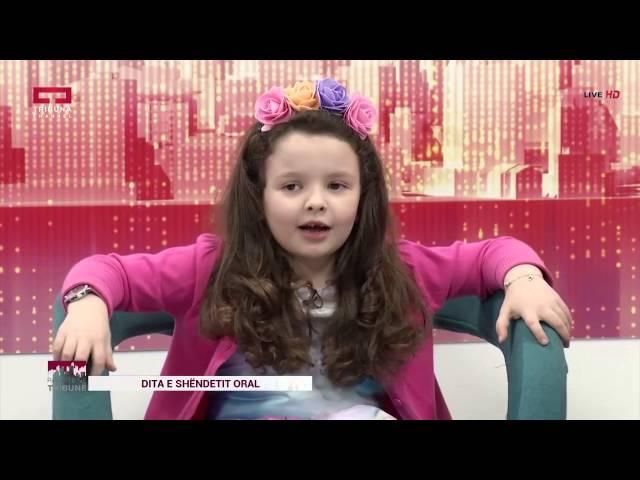 """Nina, Elisa, Diellëza, këndojnë LIVE këngën """"Dhëmbë të shëndoshë, fëmijë të lumtur"""" Tribuna Channel"""