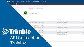 Online Eğitim | Trimble Ag Yazılım | API Bağlantıları nasıl kullanılır