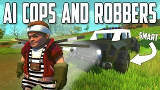 MULTIPLAYER AI COPS and ROBBERS! - Scrap Mechanic Multiplayer Monday
