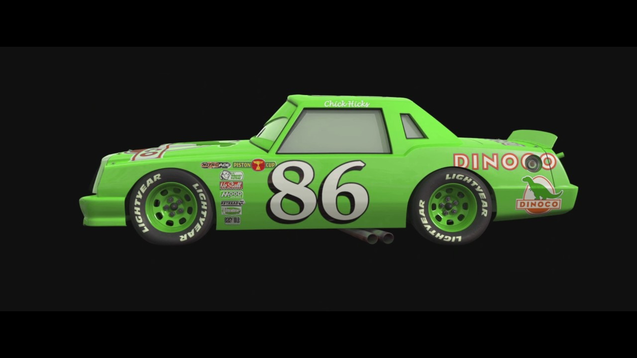 Disney cars green dinoco chick hicks youtube - Coloriage cars chick hicks ...