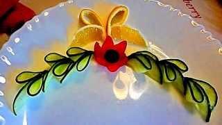 Украшения из овощей. Украшения тарелки. Карвинг помидора, огурца, лимона. Decoration of Vegetables.