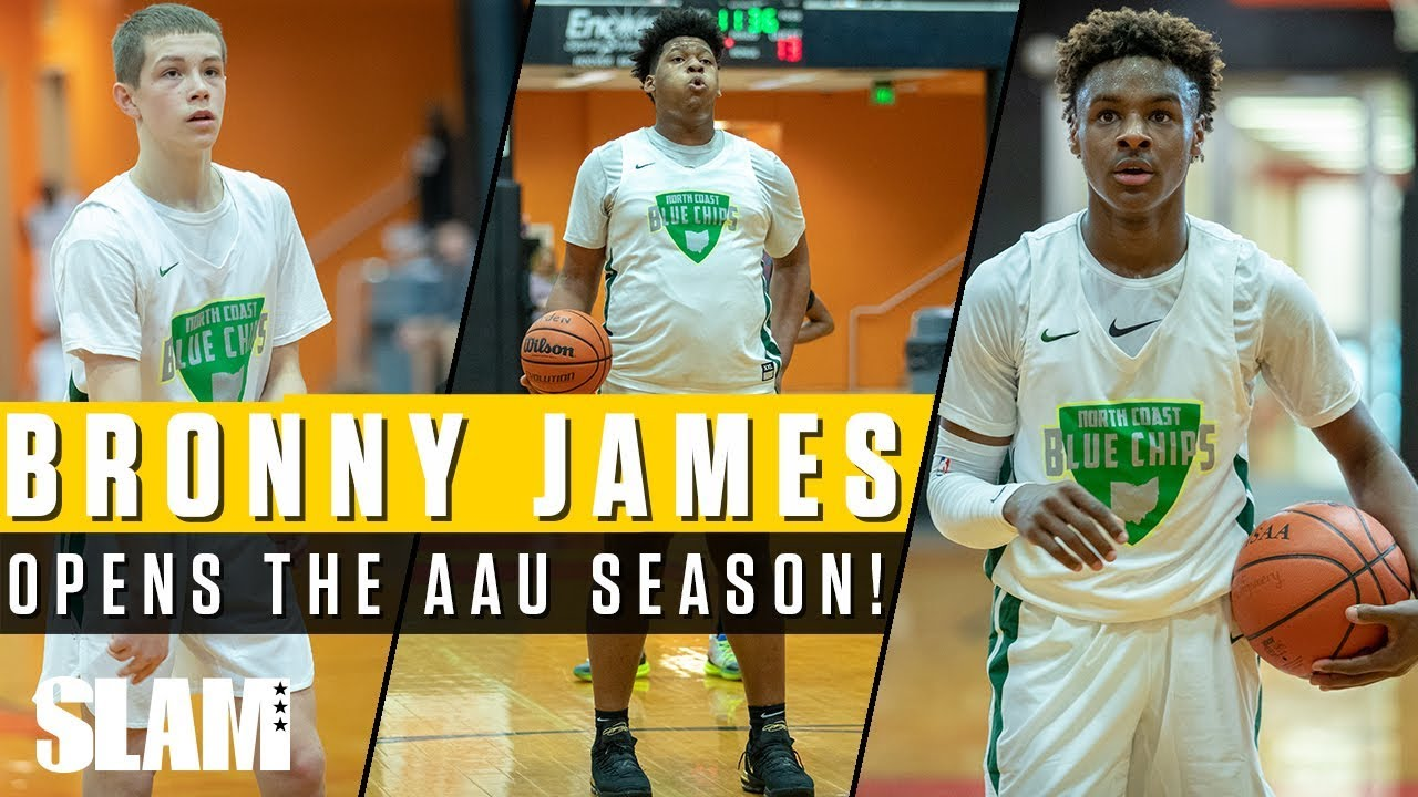 Bronny James and North Coast Blue Chips Open AAU Season! 👑