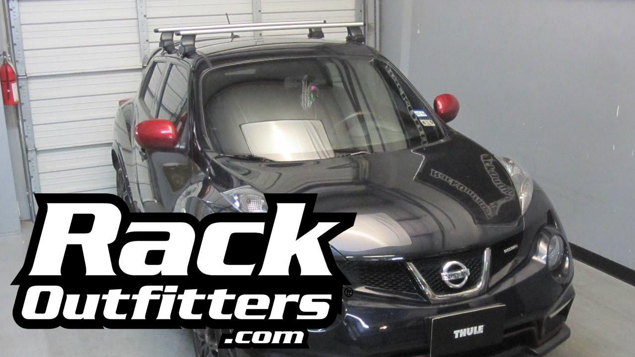Nissan Juke Thule Rapid Traverse Silver Aeroblade Roof