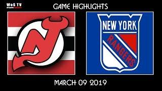 4c78310dc NHL Highlights New Jersey Devils vs New York Rangers – Mar 9