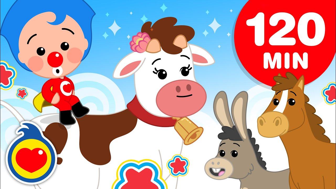 🐮  La Vaca Lola - 120 Minutos de las Mejores Canciones Infantiles de La Granja ♫ Plim Plim