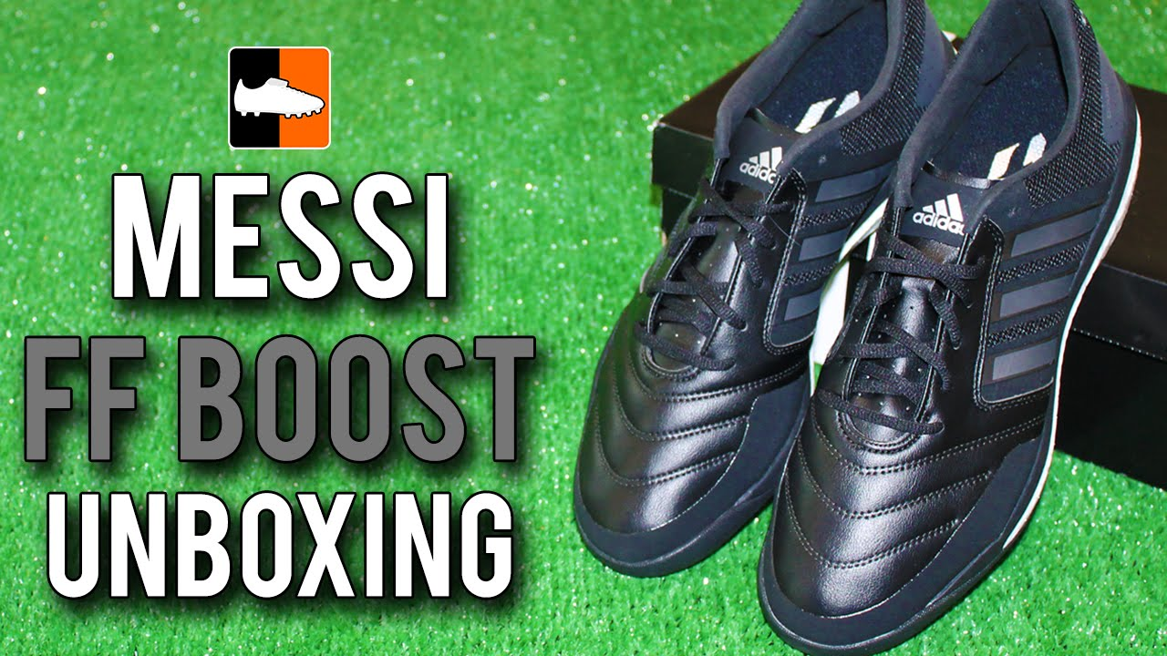 adidas Messi FreeFootball Boost Unboxing Lionel Messi's Signature Indoor Boot Range