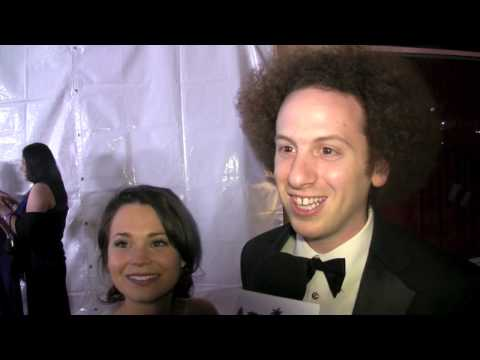 s with Josh Sussman and Iqbal Theba from 'Glee' at E!'s Post Oscar Party