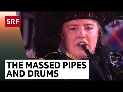 The Massed Pipes and Drums - Basel Tattoo 2017 vom 16.9.2017