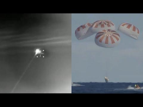 Crew Dragon Deorbit And Splashdown In The Atlantic Ocean