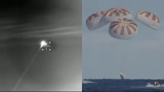 Crew Dragon deorbit and splashdown in the Atlantic Ocean