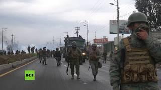 Pueblos indígenas y fuerzas armadas chocan en Ecuador durante marcha