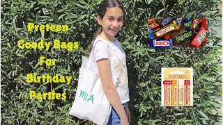PRETEEN GOODY BAGS FOR BIRTHDAY PARTIES!