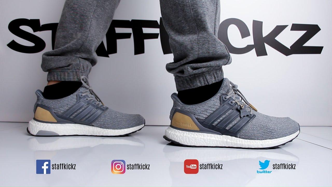 293d9d49a3d ... hot adidas ultra boost ltd premium grey unboxing on feet 54ce9 5121c