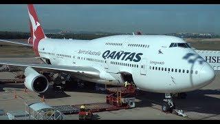QANTAS Boeing 747-400ER / Brisbane to Los Angeles / 4K VIDEO !