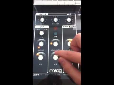 Moog Filtatron on iPad Demo
