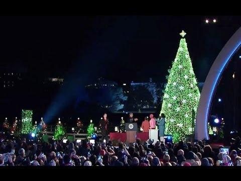 President Obama Lights the National Christmas Tree - President Obama Lights The National Christmas Tree - YouTube