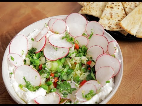Andrew Zimmern Cooks: Labneh Dip With Peppers & Radishes