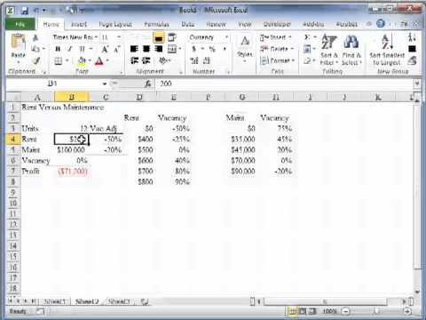 Simplistic (visual) Optimization in Excel with a basic real estate ...