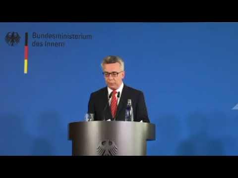 BMI Pressekonferenz Bundesinnenminister de Maizière