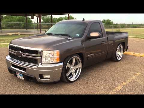 2008 Chevy Silverado 6/8 dropped on 24 in Intro Flow wheels...