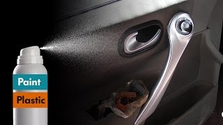 How to paint plastic with spray / Painting Car interior Trim