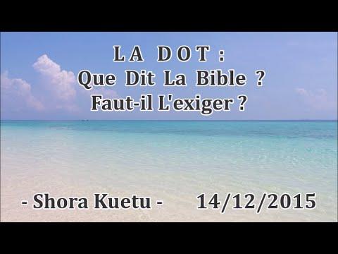 LA DOT : Que dit la bible ? - Faut il l