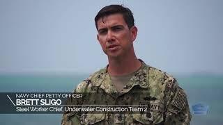 Cobra Gold 2019:  Underwater construction teams execute an underwater demolition.