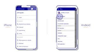 Saldo in het beginscherm van de  Rabo Bankieren App