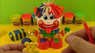 Play-Doh toy clown head -Play-Doh cabeza payaso de juguete -