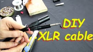 """How to make XLR to 1/4"""" TRS balanced audio signal cable #DIY18"""