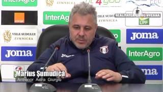 CONFERINTA DE PRESA DUPA MECIUL ASTRA GIURGIU-DINAMO BUCURESTI 1-2 10/04/2017
