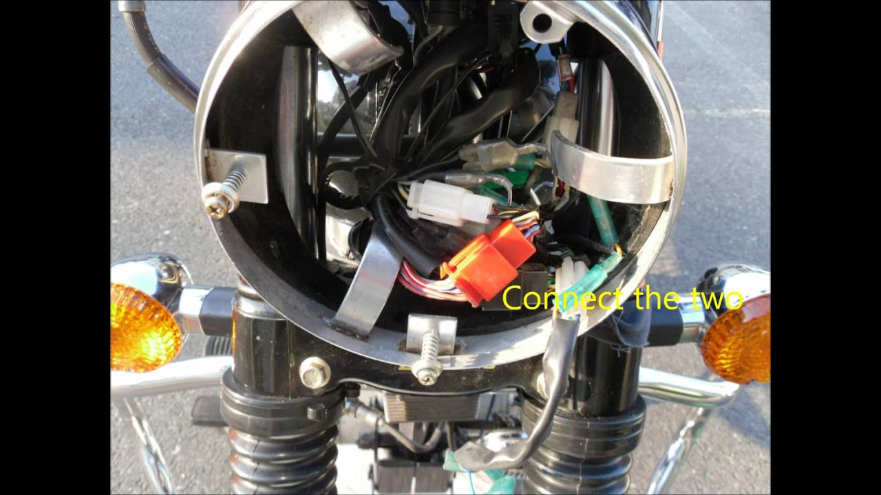 hight resolution of headlight and parking switch activation of royal enfield motorcycle