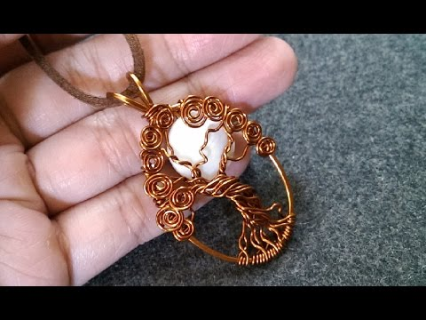 "Pendant ""tree of life with moon"" - How to make wire jewelry 227"