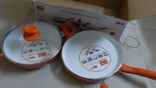 Prestige Ceramic Cookware BYK Set of 3 pieces From Snapdeal - Unboxing