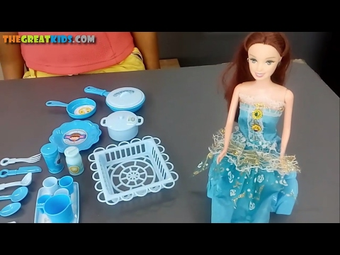 Kitchen Set for Girls | Kitchen Set Toys for Children | Barbie with Kitchen Set | The Great Kids