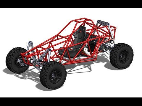 เทคนิคการออกแบบยานยนต์ด้วย-solidworks-(frame-buggy)