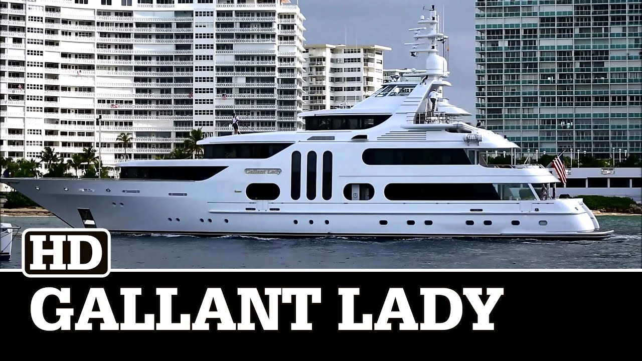 Feadship 51m Superyacht Gallant Lady At Fort Lauderdale Youtube