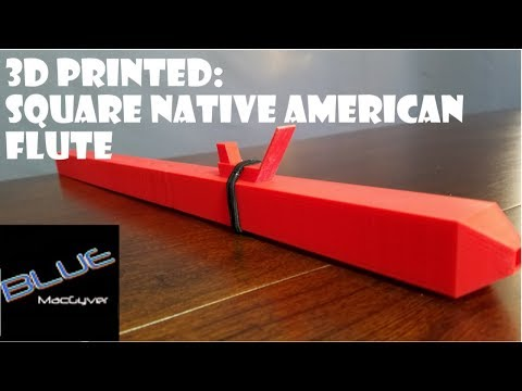 Square Native American Flute  -3D Print