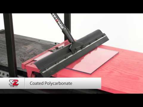 Windshield Material Squeegee Test