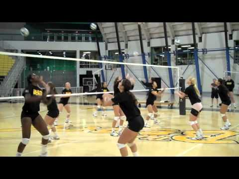 LBSU Volleyball's unique warmup drill